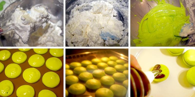 macarons paso a paso