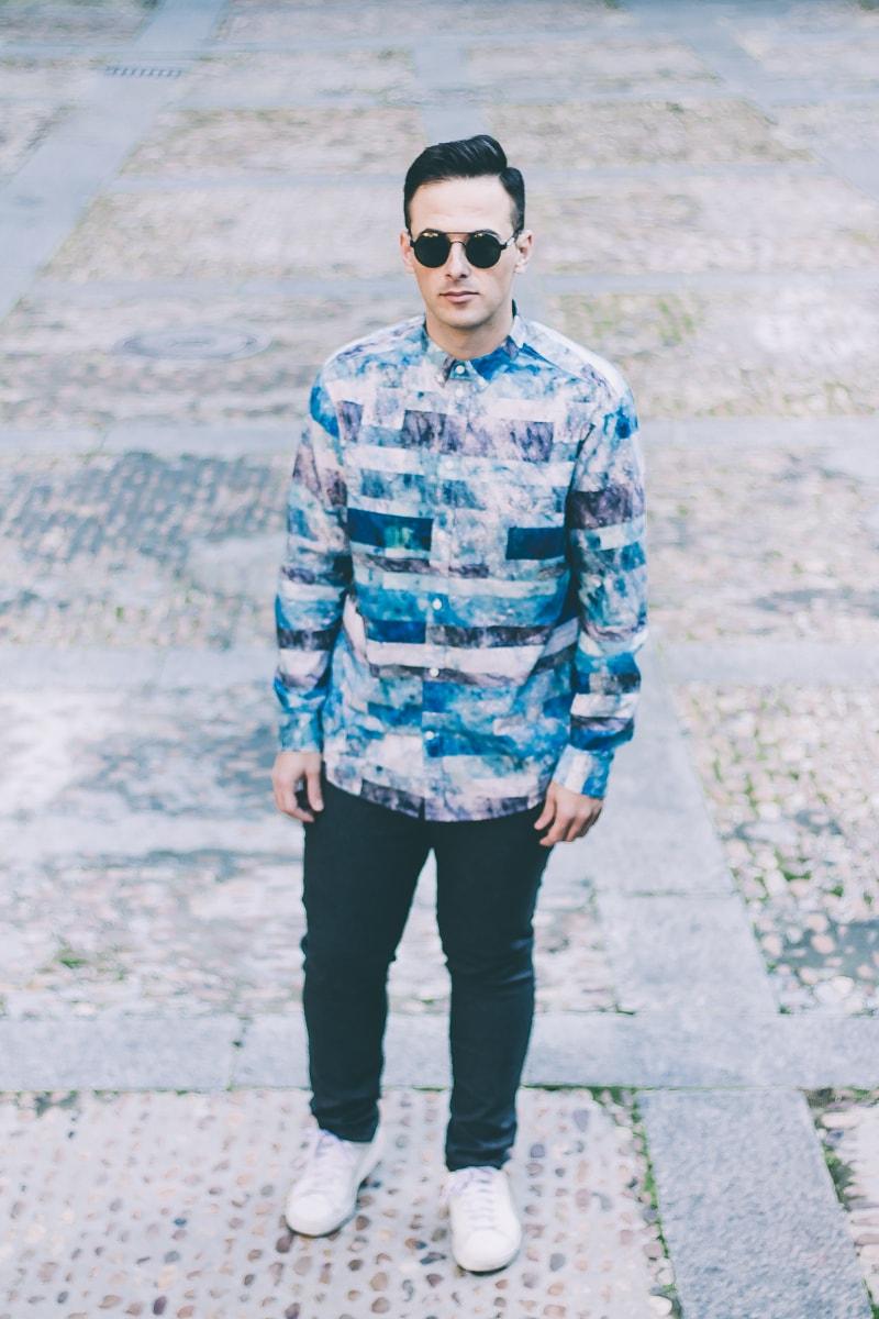 Marbled Shirt www.jeffreyherrero.com