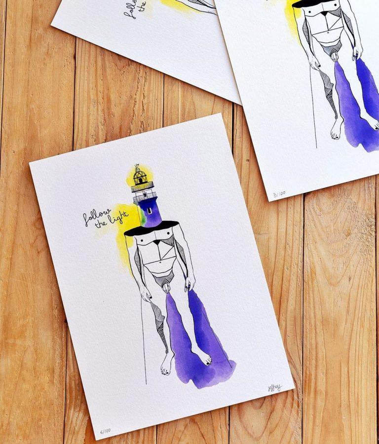 ?Follow The Light? #ilustración disponible . En papel fine art 100% natural de 315gsm, tintas Life100+, tamaño 21x29cm. Si quieres una contáctame por mensaje directo. ????